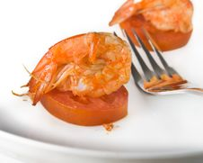 Shrimp Salad Stock Photography