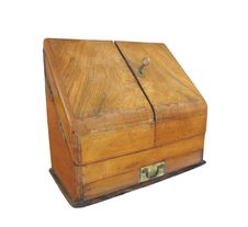 Vintage Wooden Case Isolated Royalty Free Stock Images