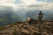 Free Swiss Alps.tower Of Stone Royalty Free Stock Image - 22603016