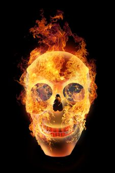 Free Burning Skull Stock Photography - 22603432