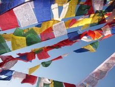 Free Prayer Flags Royalty Free Stock Images - 22603469