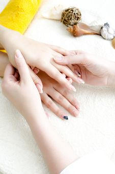 Free Hands Massage Stock Photography - 22606202