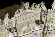 Cathedral Church Of Murcia At Night Stock Photography
