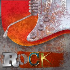 Free Abstract Rusty Background With Electric Guitar Stock Photos - 22608423