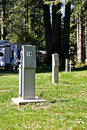 Free RV Hook-up Pedestals Royalty Free Stock Photography - 22618737