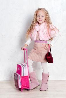 Free Little Tourist Girl Royalty Free Stock Photo - 22610235