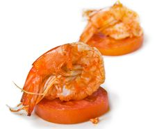 Delicious Prawn Stock Photo