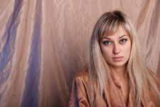 Portrait Of Girl Of Blonde. Royalty Free Stock Images