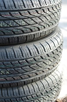 Free Stack Of Car Tires. Stock Images - 22615084