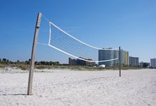 Free Beach Volleyball Net Stock Images - 22615204
