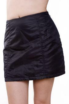 Free Black Mini Skirt Stock Photography - 22616252