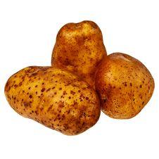 Free Three Fresh, Raw Potatoes. Stock Image - 22616851