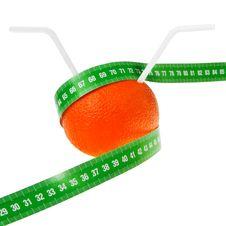 Free Ripe Orange Fruit With Drinking Straws. Stock Photography - 22616872