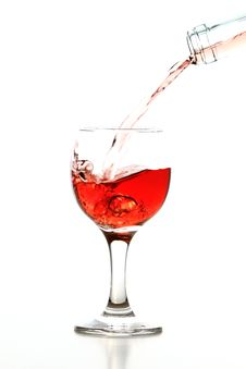 Free Glass Of Wine Royalty Free Stock Photos - 22617018