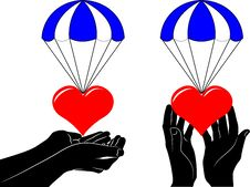 Free The Flying Heart Stock Images - 22621994