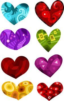 Free Hearts Set Royalty Free Stock Image - 22626656