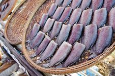 Free Dry Fish On Basket Stock Photos - 22627183