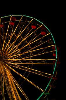 Big Wheel At Fun Park Stock Photos