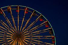 Big Wheel At Fun Park Royalty Free Stock Photography