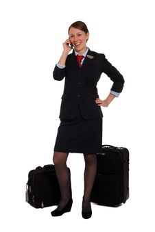 Free Flight Attendant Done Work Royalty Free Stock Images - 22627909