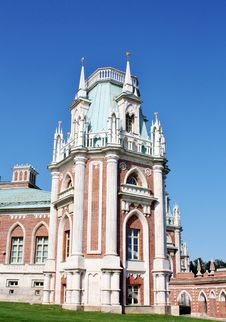 Free Tower Of Grand Palace  In Tsaritsynro (Moscow) Stock Photography - 22629332