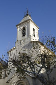 Free Church Steeple In Beaumes De Venise, France Royalty Free Stock Photo - 22631945