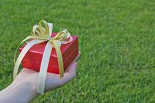 Giving Gift Royalty Free Stock Photography