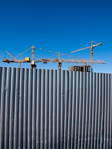 Free Building Cranes For Fence Stock Photos - 22635733