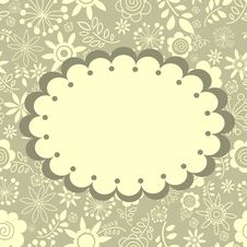 Free Floral Greeting Card Royalty Free Stock Photo - 22636285