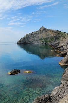 Free Pointed Cape Kapchik On The Crimean Coast. Royalty Free Stock Photos - 22638278