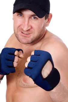 Free Man In Boxing Gloves Stock Image - 22641001