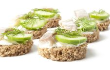 Free Sandwiches With Herring Stock Photo - 22641100
