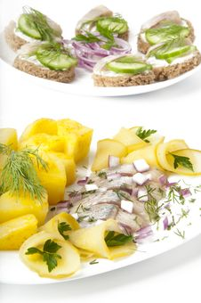 Free Portion Of A Herring Royalty Free Stock Photography - 22641167