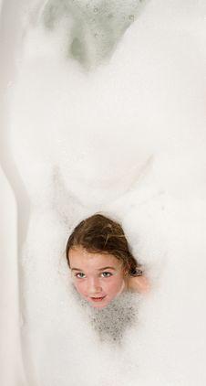 Free Little Girl In Soap Foam Royalty Free Stock Photography - 22642377