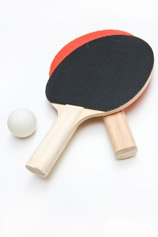Free Ping Pong Paddles And Ball Stock Images - 22643134