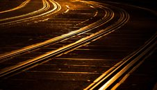 Free Tram Tracks Royalty Free Stock Photography - 22645027