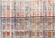 Free Scaffold And Brick Wall Stock Image - 22647661