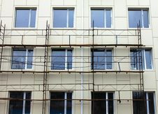 Free Scaffold Against The Wall Stock Photography - 22648232