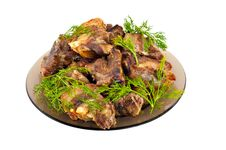 Free Fried Meat On Stones Royalty Free Stock Images - 22648629