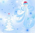 Free Santa Claus Is Blowing On The Christmas Tree Stock Photo - 22650410
