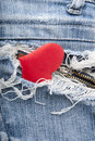 Free Heart In Jeans Royalty Free Stock Image - 22651116