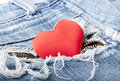 Free Heart In Jeans Royalty Free Stock Photos - 22651158