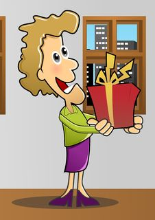 Free Give A Gift  With Background Stock Photo - 22650700
