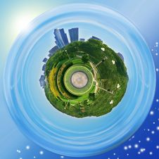 Grant Park Planet &x28;Chicago&x29; Royalty Free Stock Images