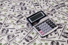 Free Money And Calculator Stock Photos - 22657173