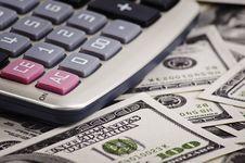 Free Calculator With Money Stock Image - 22657201