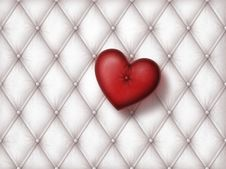 Free White Leather With Heart Stock Image - 22658641