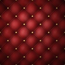 Free Red Leather With Golden Buttons Royalty Free Stock Photos - 22658648