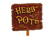 Free Herb Pots. Royalty Free Stock Images - 22659299