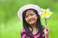 Free Cute Girl With A Toy Stock Images - 22659354